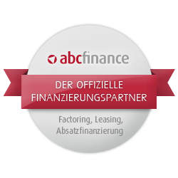 Rundes Siegel vom Finanzdienstleister abcfinance